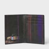Paul Smith Men's Black Leather 'Mini' Print Interior Credit Card Wallet