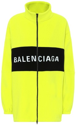 Balenciaga Logo wool-blend jacket