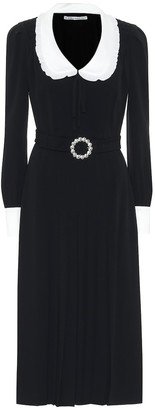 Alessandra Rich Embellished crepe midi dress