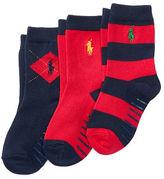 Ralph Lauren 2-7 Rugby Argyle Crew Sock 3-Pack