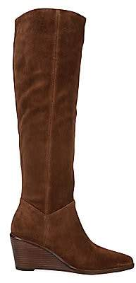 Vince Women's Marlow Tall Suede Wedge Boots