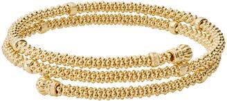 Lagos Caviar 18K Gold Coil Bracelet