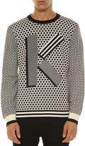 Kenzo Geometric Intarsia Sweater
