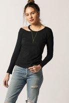 LnA Torn Shoulder L/S Sweater