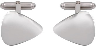 Edge Only Plectrum Cufflinks in Silver