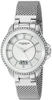 Akribos XXIV Women's AK840SS Quartz Movement Watch with Silver Dial and Stainless Steel Bracelet