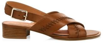 Jack Rogers Amelia Braided Leather City Slingback Sandals