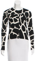 John Galliano Giraffe Pattern Silk Cardigan