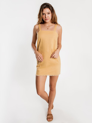 Nude Lucy Blake Linen Dress in Washed Mustard
