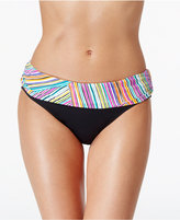 Anne Cole Multi-Stripe Foldover Hipster Bikini Bottoms