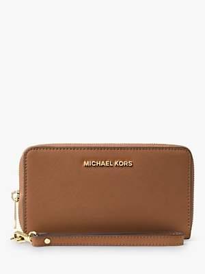 Michael Kors MICHAEL Jet Set Large Leather Travel Phone Case Purse