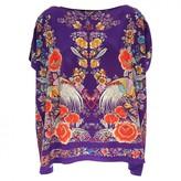 Roberto Cavalli Purple Silk Knitwear for Women