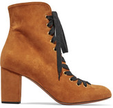Chloé Suede Lace-up Boots - Tan