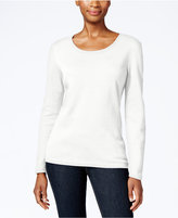Karen Scott Petite Scoop-Neck Top, Only at Macy's