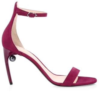 Nicholas Kirkwood Mia Faux Pearl Suede Sandals