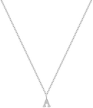 Meira T 14K White Gold Diamond Intial Pendant Necklace