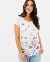 Wallis Scattered Butterfly Shell Top