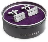 Ted Baker Corner Stone Brushed Cufflinks