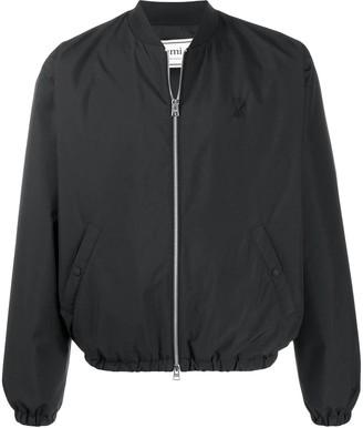 Ami Alexandre Mattiussi Black Zipped Bomber Jacket