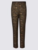 Per Una Cotton Rich Textured Slim Leg Trousers