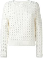 Chloé open knit jumper - women - Wool/Alpaca/Acrylic - L