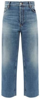 Balenciaga Cropped Wide-leg Jeans - Womens - Blue