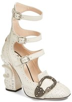 Gucci Women's Queercore Embellished Gladiator Pump