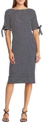 Lauren Ralph Lauren Striped Cotton Sheath Dress