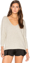 Callahan x REVOLVE Heathered V Neck Sweater in Gray. - size L (also in M)