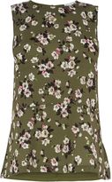 Warehouse Mae Floral Woven Front Top
