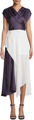 Nicole Miller Silk-Blend Dress