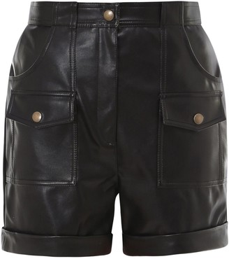 Philosophy di Lorenzo Serafini Faux-Leather Shorts