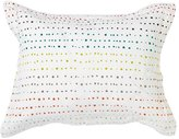 Pehr Designs Painted Dots Sham With Reversible - Citron Stripe