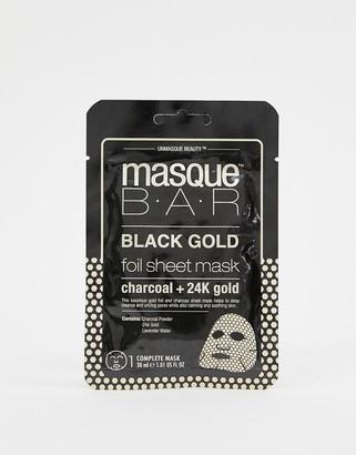 MasqueBAR Black Gold Foil Charcoal & 24k Gold Sheet Mask-No Color