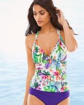 Soma Intimates Calypso Island Goddess Strappy Halter Swim Tankini Top