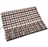 Aquascutum London Club Check Scarf Brown