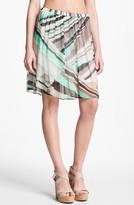 Ella Moss Print Chiffon Skirt Black Large