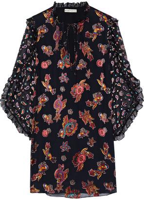 Alice + Olivia Julius Printed Burnout Silk-blend Chiffon Mini Dress