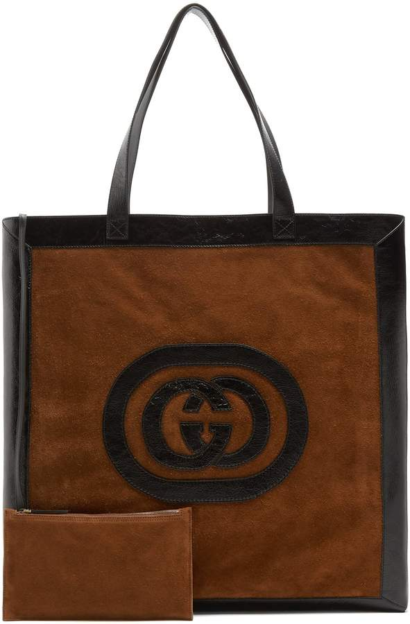 Gucci Ophidia large suede tote bag