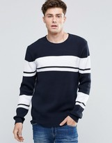 French Connection Striped Knitted Sweater