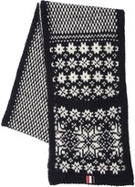 Thom Browne Snowflake Wool & Mohair Scarf W/ Pockets