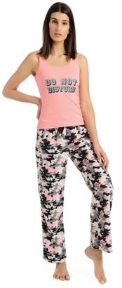 Body Candy Junior's Knit Pajama Tank Top with Luxe Fleece Sleep Pants