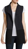 Eileen Fisher Petite Colourblock Wool Vest