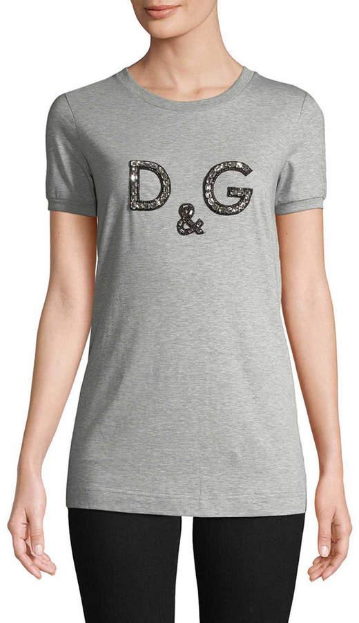 Dolce & Gabbana Embellished Logo T-Shirt