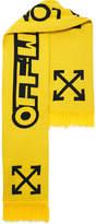 Off-White Cotton Scarf - Yellow