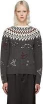 Nina Ricci Grey Embroidered Icelandic Sweater