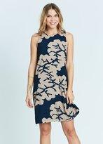 Karen Zambos Coral Shift Dress
