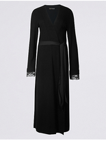 Rosie For Autograph Lace Trim Long Wrap Dressing Gown