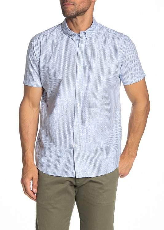 JB Britches Anoro Paisley Short Sleeve Regular Fit Shirt