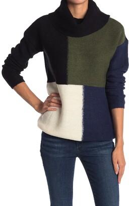 Cyrus Colorblock Cowl Neck Sweater